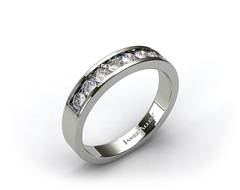 14k White Gold 0.45ct Channel Set Diamond Wedding Ring